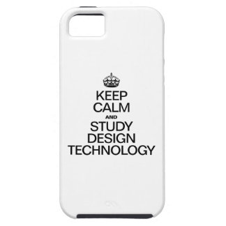KEEP CALM AND STUDY DESIGN TECHNOLOGY iPhone SE/5/5s CASE