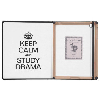 KEEP CALM AND STUDY DRAMA iPad FOLIO CASE