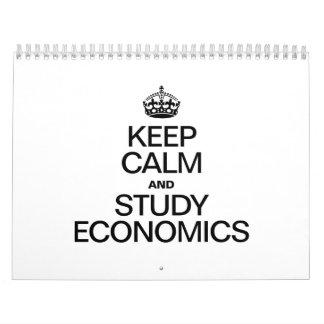 KEEP CALM AND STUDY ECONOMICS WALL CALENDAR
