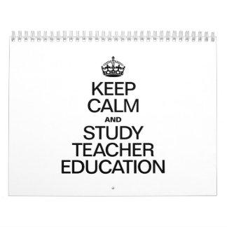 KEEP CALM AND STUDY EDUCATION WALL CALENDARS