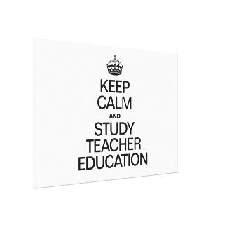 KEEP CALM AND STUDY EDUCATION GALLERY WRAPPED CANVAS