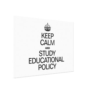 KEEP CALM AND STUDY EDUCATIONAL POLICY GALLERY WRAP CANVAS
