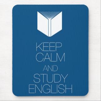 Keep Calm and Study English Mouse Pad