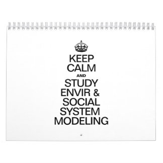 KEEP CALM AND STUDY ENVIR AND SOCIAL SYSTEM CALENDAR
