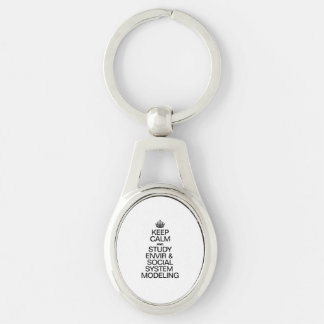 KEEP CALM AND STUDY ENVIR AND SOCIAL SYSTEM KEYCHAINS