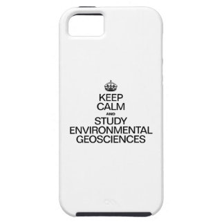 KEEP CALM AND STUDY ENVIRONMENTAL GEOSCIENCES iPhone SE/5/5s CASE