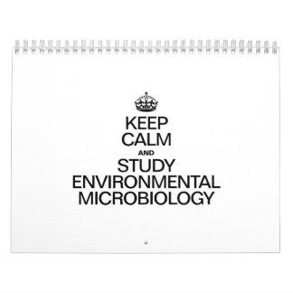 KEEP CALM AND STUDY ENVIRONMENTAL MICROBIOLOGY CALENDARS