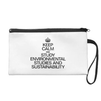 KEEP CALM AND STUDY ENVIRONMENTAL STUDIES AND SUST WRISTLETS