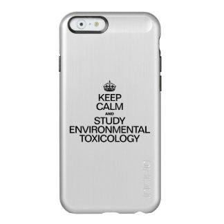 KEEP CALM AND STUDY ENVIRONMENTAL TOXICOLOGY INCIPIO FEATHER® SHINE iPhone 6 CASE