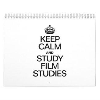 KEEP CALM AND STUDY FILM STUDIES CALENDAR