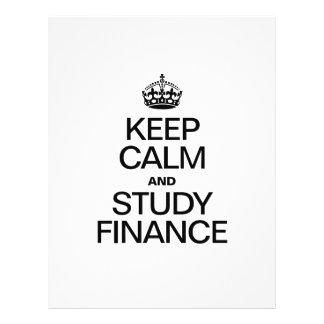 KEEP CALM AND STUDY FINANCE FLYER DESIGN