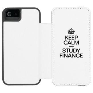 KEEP CALM AND STUDY FINANCE INCIPIO WATSON™ iPhone 5 WALLET CASE