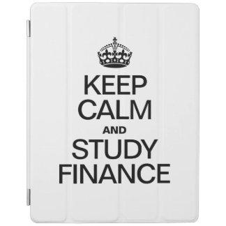 KEEP CALM AND STUDY FINANCE iPad COVER