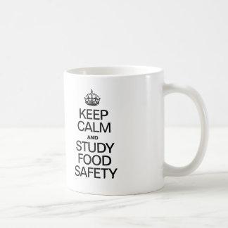KEEP CALM AND STUDY FOOD SAFETY COFFEE MUG