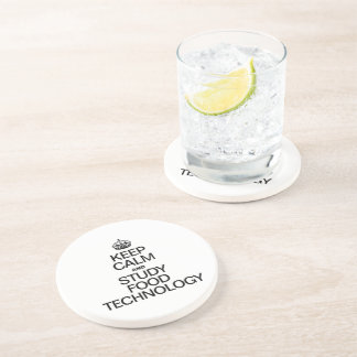 KEEP CALM AND STUDY FOOD TECHNOLOGY BEVERAGE COASTERS