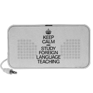 KEEP CALM AND STUDY FOREIGN LANGUAGE TEACHING SPEAKER SYSTEM