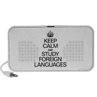 KEEP CALM AND STUDY FOREIGN LANGUAGES iPhone SPEAKER