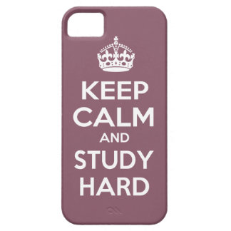 Keep Calm and Study Hard iPhone SE/5/5s Case