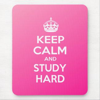 Keep Calm and Study Hard Mouse Pad