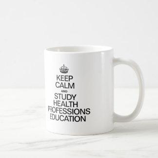 KEEP CALM AND STUDY HEALTH PROFESSIONS EDUCATION MUG