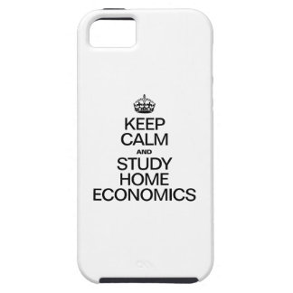 KEEP CALM AND STUDY HOME ECONOMICS iPhone SE/5/5s CASE