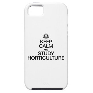 KEEP CALM AND STUDY HORTICULTURE iPhone SE/5/5s CASE
