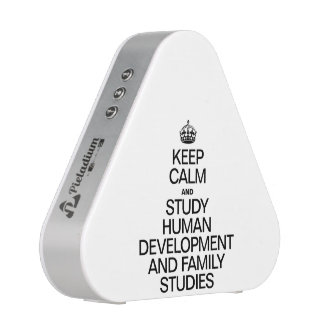 KEEP CALM AND STUDY HUMAN DEVELOPMENT AND FAMIILY BLUETOOTH SPEAKER
