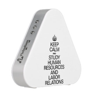 KEEP CALM AND STUDY HUMAN RESOURCES AND LABOR BLUETOOTH SPEAKER