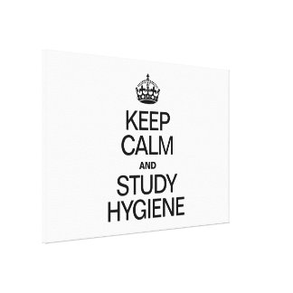 KEEP CALM AND STUDY HYDIENE STRETCHED CANVAS PRINT