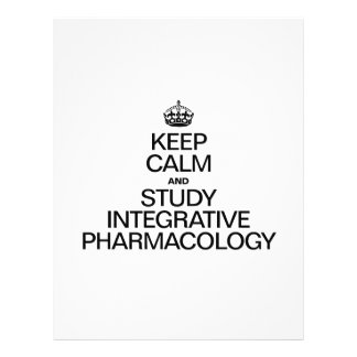 KEEP CALM AND STUDY INTEGRATIVE PHARMACOLOGY FLYER