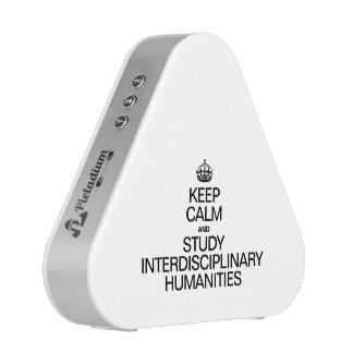 KEEP CALM AND STUDY INTERDISCIPLINARY HUMANITIES BLUETOOTH SPEAKER