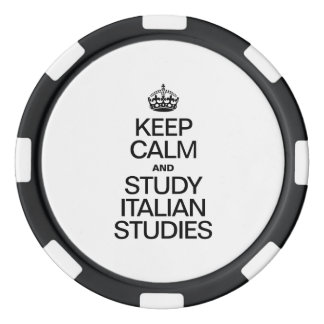 KEEP CALM AND STUDY ITALIAN STUDIES POKER CHIP SET