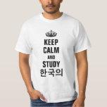 Keep calm and study Korean (한국의) T-shirt