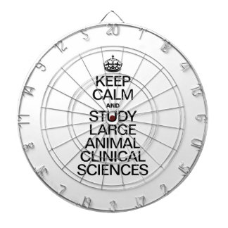 KEEP CALM AND STUDY LARGE ANIMAL CLINICAL SCIENCES DARTBOARD