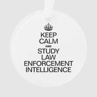 KEEP CALM AND STUDY LAW ENFORMENT INTELLIGENCE