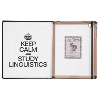 KEEP CALM AND STUDY LINGUISTICS iPad COVER