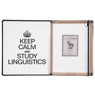 KEEP CALM AND STUDY LINGUISTICS iPad COVERS