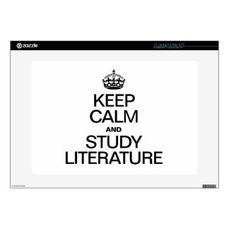 KEEP CALM AND STUDY LITERATURE SKINS FOR LAPTOPS