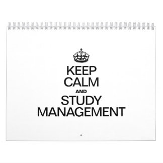 KEEP CALM AND STUDY MANAGEMENT WALL CALENDAR
