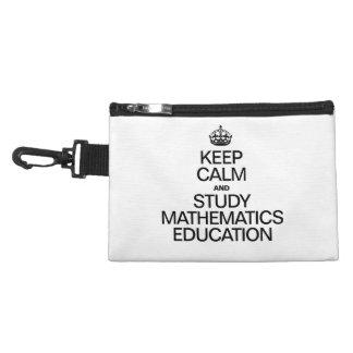 KEEP CALM AND STUDY MATHEMATICS EDUCATION ACCESSORIES BAG