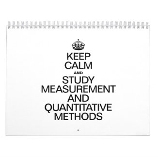 KEEP CALM AND STUDY MEASUREMENT AND QUANTITAVE MET WALL CALENDARS