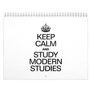 KEEP CALM AND STUDY MODERN STUDIES CALENDARS