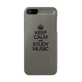 KEEP CALM AND STUDY MUSIC METALLIC iPhone SE/5/5s CASE