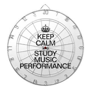 KEEP CALM AND STUDY MUSIC PERFORMANCE DARTBOARD WITH DARTS