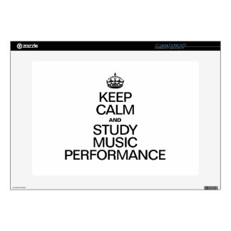 KEEP CALM AND STUDY MUSIC PERFORMANCE LAPTOP DECALS