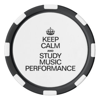 KEEP CALM AND STUDY MUSIC PERFORMANCE SET OF POKER CHIPS