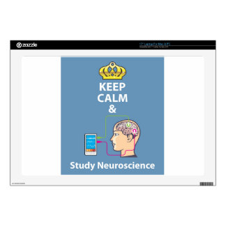 "Keep Calm and Study Neuroscience vector 17"" Laptop Skins"