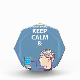 Keep Calm and Study Neuroscience vector Acrylic Award