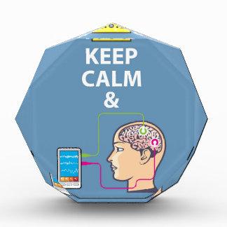 Keep Calm and Study Neuroscience vector Award
