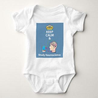 Keep Calm and Study Neuroscience vector Baby Bodysuit